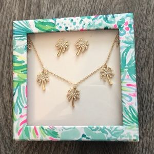 NWT Lilly Pulitzer Sparkling Palm Tree gift set
